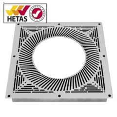 Vented Firestop Plate, White, 150mm