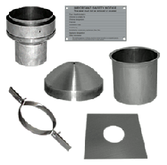 "5"" flue pipe to 6"" Flue liner installation pack - remove & replace clay chimney pot"