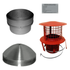 "6"" to 6"" Flue Liner Installation Pack - hang from the top of the clay chimney pot"