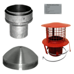 "5"" pipe to 6"" Flue Liner Installation Pack - hang from the top of the clay chimney pot"