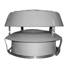Steel Pot Hanger with Anti Down-draught Cowl