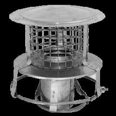 Steel Chimney Pot Hanger with Rain Cap and Bird Mesh