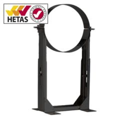Wall Support 210mm-420mm for 150 Ø Twin Wall Chimney System - Black