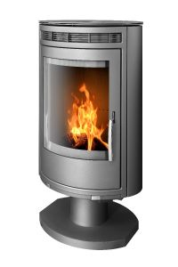 Arctic 8kW Pedestal Wood Burning Stove, Grey Only
