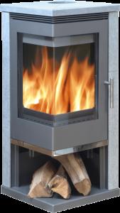 Admiral soapstone stove - 7kw corner wood burner