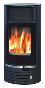 Atlantic 5kw wood burning stove - black glass
