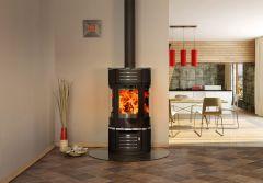 Atrium 6kw round glass stove
