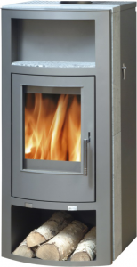 Belt aqua panorama - 10kw boiler stove - grey soapstone
