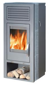 Belt aqua plan - 10kw boiler stove - grey soapstone