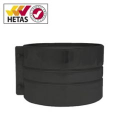 black structural locking band for twin wall chimney