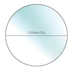 Circular glass hearth - 1150mm diameter