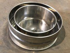 Tee Cap for KC Convesa Twin wall chimney 150mm internal Stainless (200mm external)