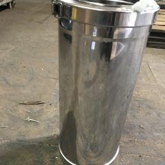 500mm long KC Convesa Twin wall chimney 150mm internal stainless (200mm external)