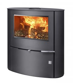 Omaha 7kw Contemporary wood burning & multifuel stove