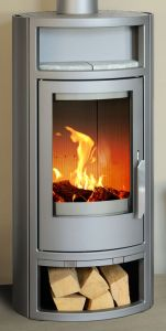 Polar 5kw curved contemporary modern European wood burning stove