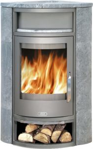 Polar 6.5kw corner wood burning & multifuel stove - soapstone