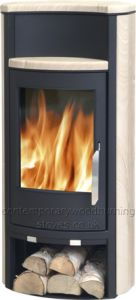 5kw sandstone wood burning stove