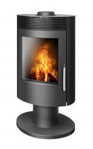 Tatu rotating 5kw wood burning & multifuel stove