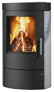 'Tulsa' 5kw wood burning / multi-fuel stove, Soapstone