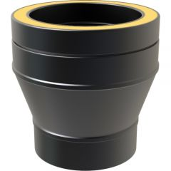 Adapter: 150mm Flue Pipe to 150mm Twin Wall - Black