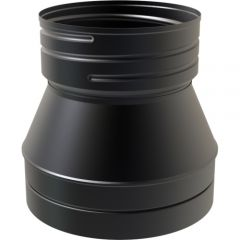Twin Wall to Flexible Flue Liner Adapter for 150mm TW Pro flue - Black