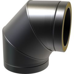 90º Bend / 150mm & locking band - Black