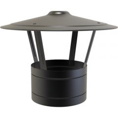 Rain Cap / 150mm - Black - with locking band.