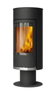 'Vigo' Pedestal 6kw Wood Burning Stove, Black or White