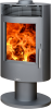 Tatu Pedestal / Rotating Wood Burning Stove, 5kW - black  or grey